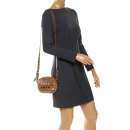 Marc By Marc Jacobs Tan Studded Leather Round Crossbody Bag 252993