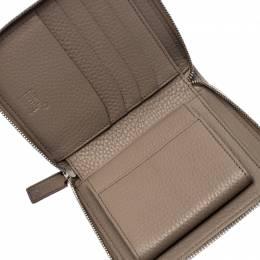 Montblanc Beige Leather Zip Around Compact Wallet 255222