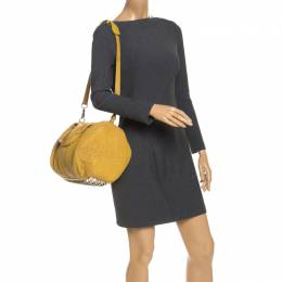 Alexander Wang Mustard Pebbled Leather Rocco Duffel Bag 253642