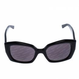 Balenciaga Black Logomania Square Sunglasses 255091