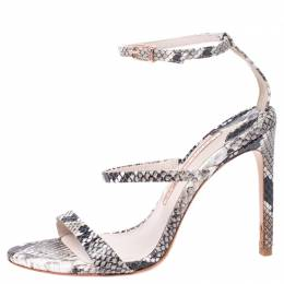 Sophia Webster Multi-color Python Embossed Leather Rosalind Ankle Strap Sandals Size 36