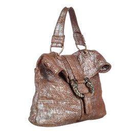 Bvlgari Brown Metallic Leather Leoni Bag 250163