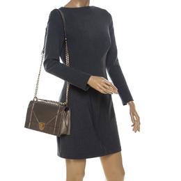 Dior Metallic Leather Medium Diorama Flap Shoulder Bag 234632