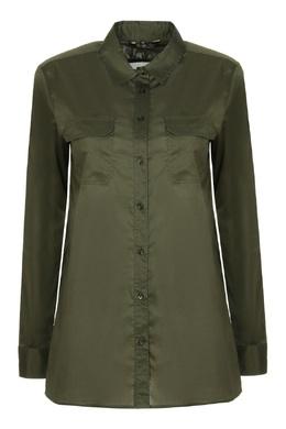 Темно-зеленая рубашка Loro Piana 672175729