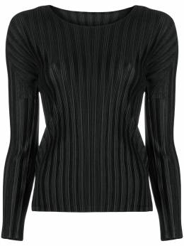Pleats Please Issey Miyake plissé fitted top PP88FK111