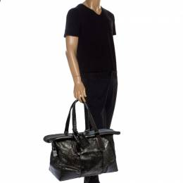Tumi Black/Silver Calf hair and Leather Stamford Weekender Bag 249617
