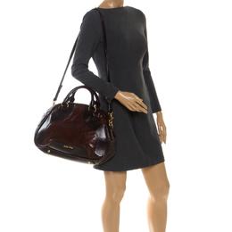 Miu Miu Brown Leather Bowler Bag 255310