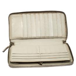 Gucci Beige Guccissima Leather Zip Around Wallet Organizer 255888