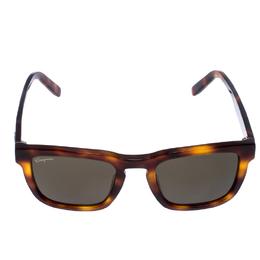 Salvatore Ferragamo Brown/Green Tortoise SF827S Square Sunglasses 255929