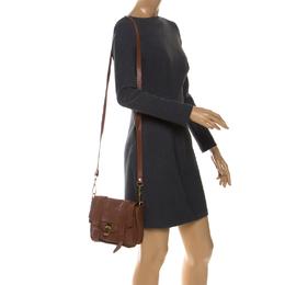 Proenza Schouler Brown Leather PS1 Mini Shoulder Bag 255048