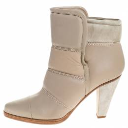 Chloe Beige Soft Leather Ankle Boots Size 40 254958