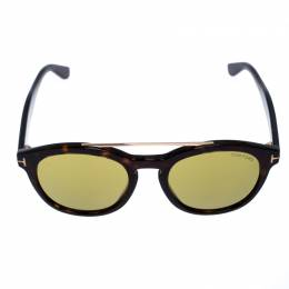 Tom Ford Brown/Green Tortoise Newman Sunglasses 255910