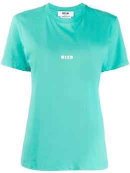 MSGM футболка с круглым вырезом и логотипом 2841MDM225207298