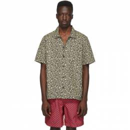 Solid And Striped Beige Leopard The Cabana Shirt R400-4327RE0