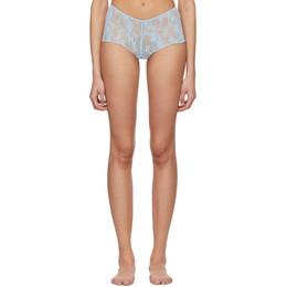 Wolford Blue Katherina Boy Shorts 69848