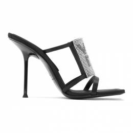 Alexander Wang Black Julie Logo Heeled Sandals 30C120P093