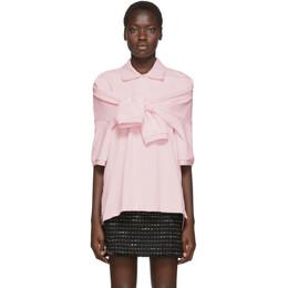 Alexander Wang Pink Tie-Sleeve Polo 1CC1201316