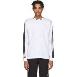 Adidas Originals White Trefoil Long Sleeve T-Shirt FM1507