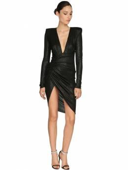 Короткое Платье Из Джерси Alexandre Vauthier 71I5BH035-QkxBQ0s1