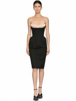Платье Из Габардина Стрейч Mugler 71I1KT018-QjIwMA2