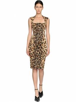 Платье Из Габардина С Принтом Mugler 71I1KT003-NDUwNA2