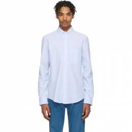 Lanvin Blue and White Seersucker Shirt RM-SI0330-S013-P20