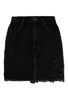 Черная джинсовая юбка мини One Teaspoon 1092175617