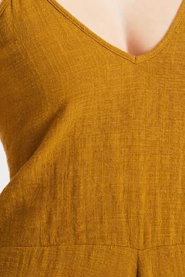 Хлопковый комбинезон оливкового цвета One Teaspoon 1092175613