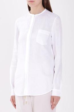 Белая рубашка с длинными рукавами Loro Piana 672176055