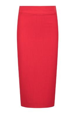 Узкая юбка ярко-красного цвета Blumarine 533174304