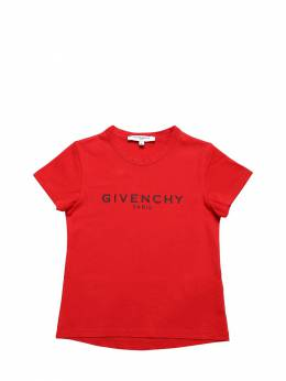Logo Printed Cotton Jersey T-shirt Givenchy 71IOFK042-OTkx0