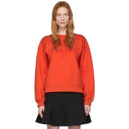Victoria, Victoria Beckham Red Heritage Sweatshirt 2120JSS000544A