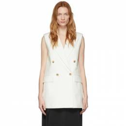 Joseph Off-White Cotton Linen Zappa Vest JP000847