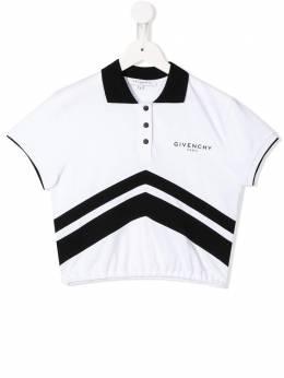 Givenchy Kids рубашка-поло с короткими рукавами и логотипом H15157N50