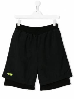 MSGM Kids многослойные спортивные шорты 022422
