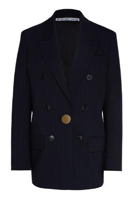 Синий пиджак в полоску Alexander Wang 367175867