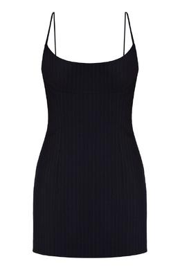 Платье-комбинация синего цвета Alexander Wang 367175866