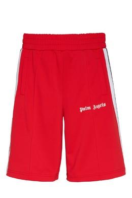 Трикотажные шорты красного цвета Palm Angels 1864175854