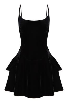 Короткое бархатное платье Alexander Wang 367175876