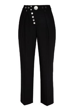 Черные брюки с кнопками Alexander Wang 367175878