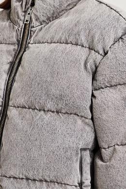 Короткий пуховик серого цвета Alexander Wang 367175879