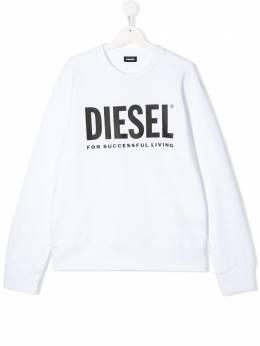 Diesel Kids толстовка с логотипом 00J4PQ0IAJH