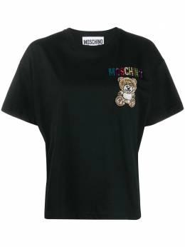 Moschino футболка с вышивкой Teddy V07100540