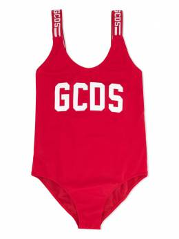 GCDS Kids купальник с логотипом 022621040
