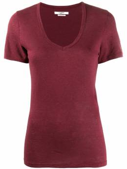 Isabel Marant Etoile футболка из джерси с V-образным вырезом TS037720P060E