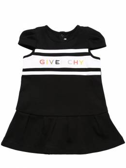 Logo Embroidered Cotton Sweater Dress Givenchy 71IOFM015-MDlC0