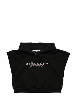 Cropped Cotton Sweatshirt Hoodie Givenchy 71IOFK038-MDlC0