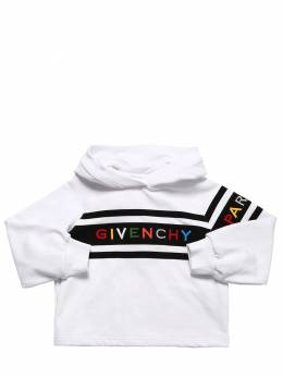 Logo Embroidered Cotton Sweatshirt Givenchy 71IOFK029-MTBC0