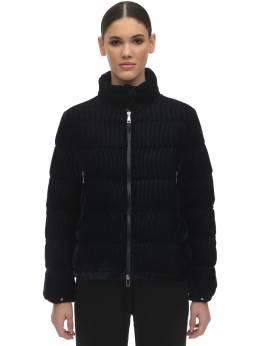 Куртка На Пуху Из Бархата Moncler 71I02K010-Nzc50