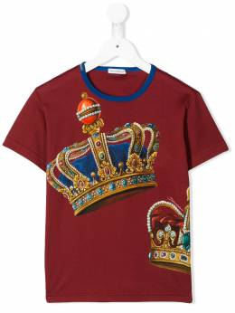 Dolce & Gabbana Kids футболка с принтом L4JT6SG7VJR